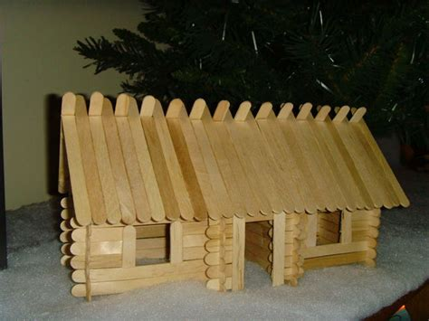 Popsicle Stick Cabin by Lincoln Sticks Popsicle Stick Log Cabins
