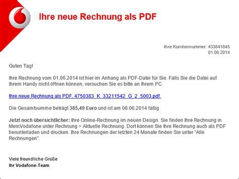 Freiberufler Rechnung Per Email Trojaner Warnung Vodafone E Mail Mit Ihre Neue Rechnung Als Pdf Mimikama