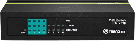 Trendnet Tpe Tg44g Poe trn tpe tg44g 8 port gigabit poe switch 4 poe at reichelt elektronik