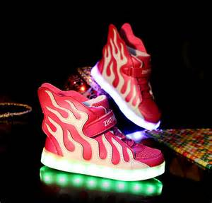 light up light up shoes gold high top with usb charger cheap sale