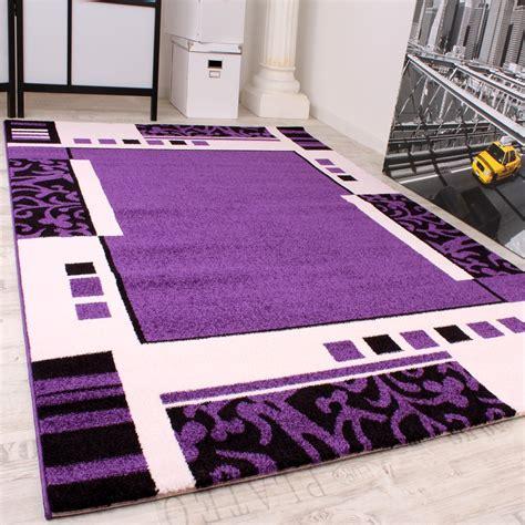 teppich lila designer teppich muster in lila schwarz weiss top qualit 228 t