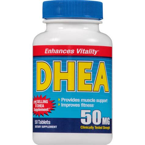 Suplemen Dhea Dhea 50 Mg Dietary Supplement 50 Ct Walmart