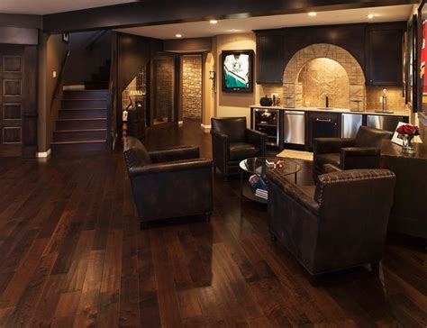 Coastal Kitchen Design by 70 Awesome Man Caves In Finished Basements And Elsewhere