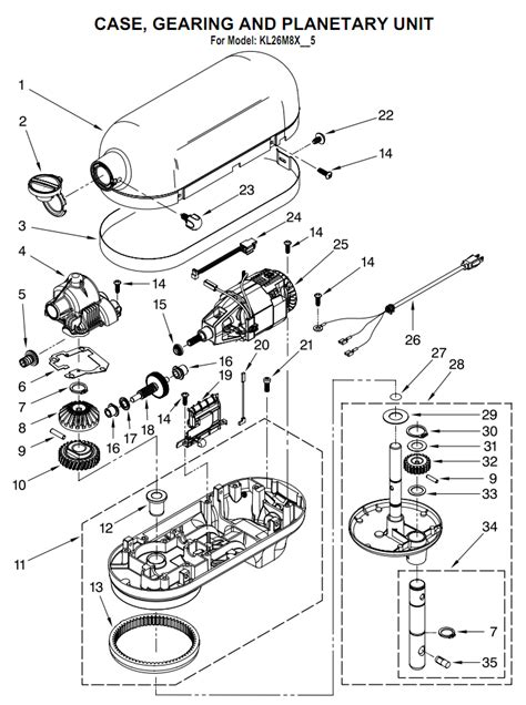 KITCHENAID MIXER PARTS DIAGRAM   KITCHEN DESIGN PHOTOS