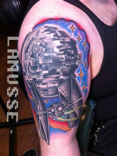 death star tie fighter tattoo creative tattoos pinterest