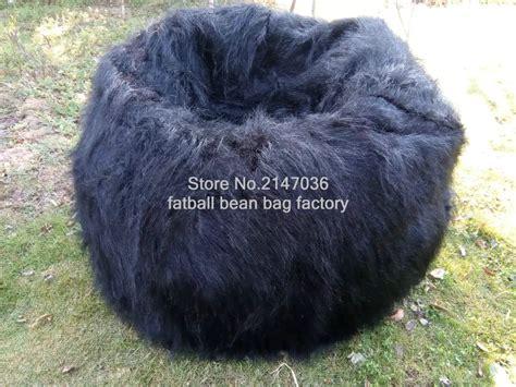 shaggy faux fur bean bag living room luxury lush soft shaggy alpaca faux fur bean