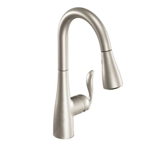 moen brushed nickel kitchen faucet kitchen moen 7594csl arbor one handle high arc pulldown kitchen faucet modern kitchen faucets