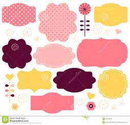 Set Of Colored Labels Vector Free Stock Photo Vector Color Retro Labels Set Image 33109560