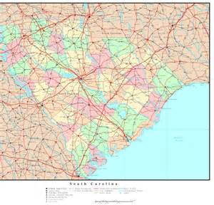 and south carolina road map south carolina political map