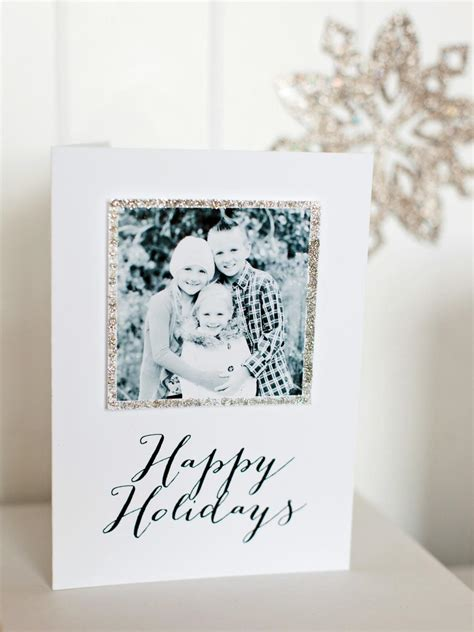 card photo templates home how to make a handmade photo card hgtv