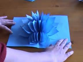 how to make pop up flower card amazing flower pop up card