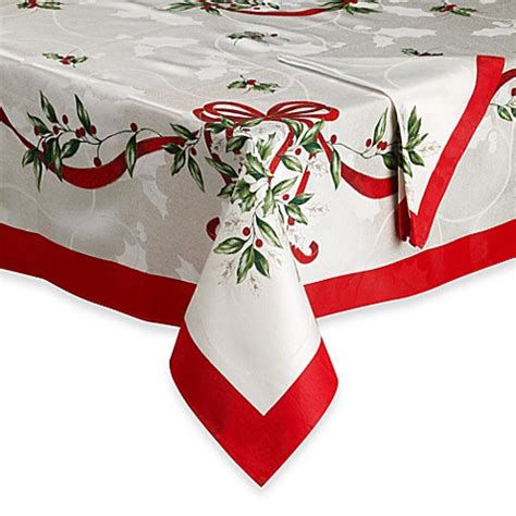 bed bath and beyond christmas tablecloths christmas ribbon tablecloth bed bath beyond