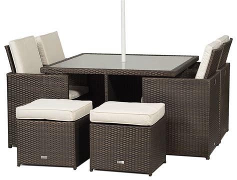 Giardino Rattan Garden Furniture 4 Seat Cube Dining Set