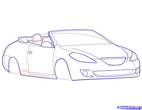 How To Draw A Convertible Step By Step Cars Draw Cars