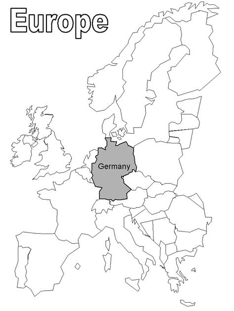 Germany Located In Europe Coloring Page Germany Pinterest Germany Coloring Page