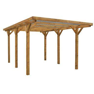 carport holz 4x4 wiata garażowa z dachem carport 3 04 x 5 17 x 2 34 m werth
