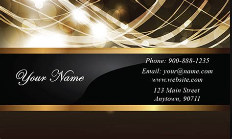 event st card template gold paper wedding business card design 701161