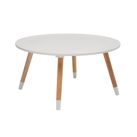 table ronde design blanche table basse scandinave blanche blossom kare design