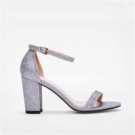 silver chunky heel sandals 41 99 silver chunky heel sandals