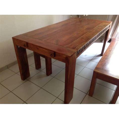 table bois et chiffons ensemble table en bois d acacia massif achat et vente