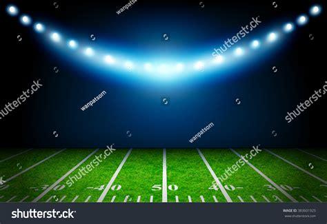 football stadium lights prices american football field bright stadium lights stock vector