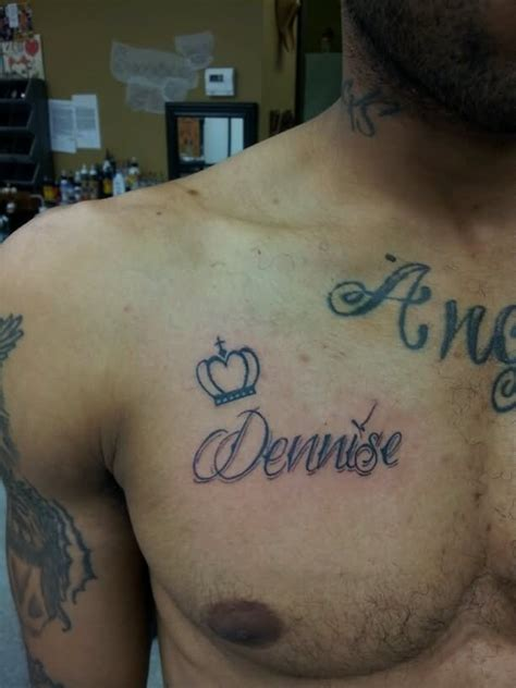 chest tattoo with names 38 name tattoos on chest