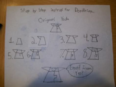 How To Make Origami Yoda Step By Step - step by step instrux for doodleing origami yoda