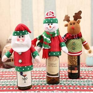 aytai 3pcs ugly christmas sweater wine bottle cover handmade wine bottle sweater for christmas decorations ugly christmas sweat sweater wine bottle cover set of 2 wine gift ebay