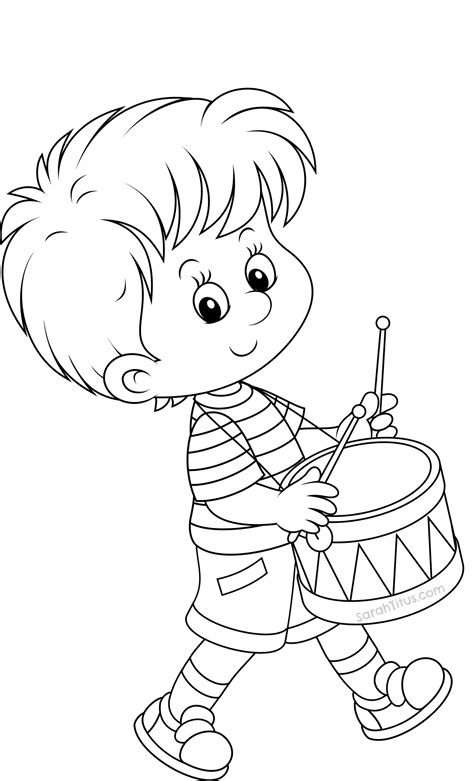 7 images of drummer boy coloring page little drummer boy