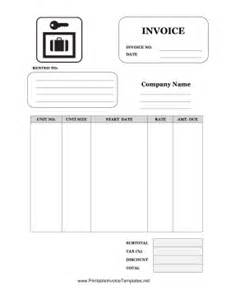 storage invoice template