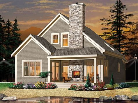 Mountain Cottage Plans by Narrow Lot Home Plans 2 Story Mountain House Plan Fit A