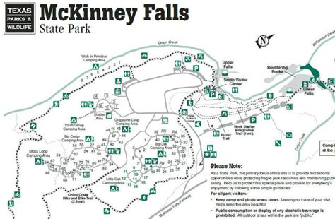 texas parks map my wisconsin space 187 map of mckinney falls state park texas