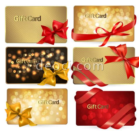 membership card template ai vector golden ribbons card design template