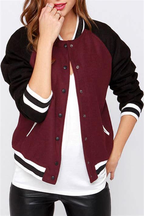 Sweater Wanita Black Zipper Casual F119 jacket black baseball baseball jacket teddy jacket
