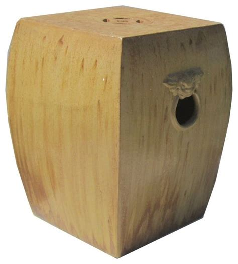Brown And Yellow Stool by Yellow Brown Color Ceramic Clay Square Fu Stool