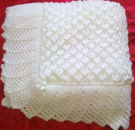 baby shawl patterns to knit stunning new knitted baby shawl blanket 36 x 36 ins