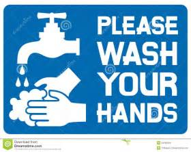 Hands Free Bathroom Faucet Please Wash Your Hands Sign Stock Images Image 25183004