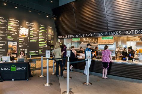 Wooden Interior by Shake Shack Now Open In Legacy West Plano Magazine
