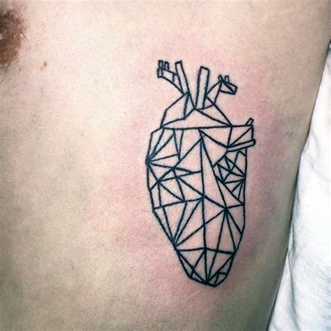 geometric tattoo price 50 geometric heart tattoo designs for men symmetrical ideas