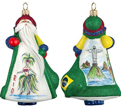 glitterazzi international brazil santa ornament
