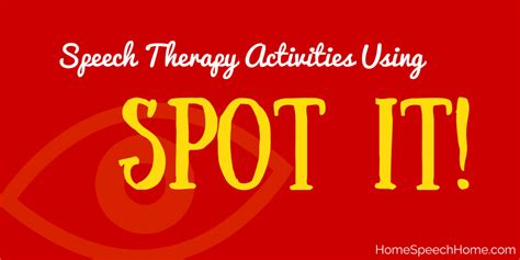 speech therapy activities using spot it