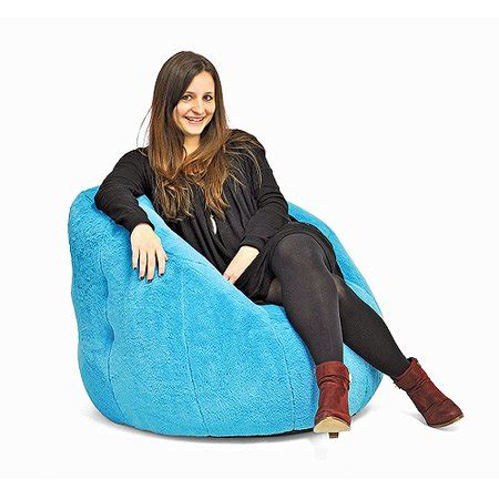 mainstays rabbit faux fur beanbag chair teal sachet walmartcom