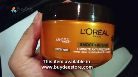 Loreal Hair Mask Smooth l oreal smooth anti frizz 1 minute caring
