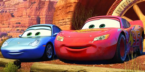 cars sally cars sally and lightning mcqueen www pixshark com