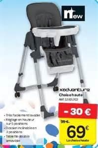 carrefour promotion chaise haute xadventure chaise