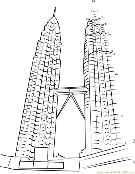 twin towers coloring easy coloring pages