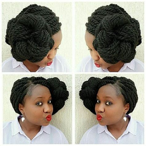 kinky twist buns hairstyle 19 fabulous kinky twists hairstyles page 2 of 2 stayglam