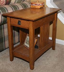 Mission End Table Plans   diywoodtableplans