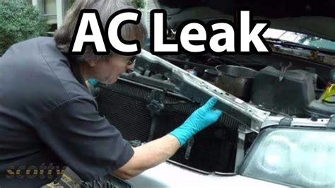 fix small ac refrigerant leaks   car youtube