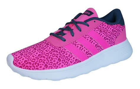 adidas neo lite racer womens trainers shoes pink at galaxysports co uk
